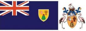 A sziget zászlaja és címere, középpontban a Melocactus.